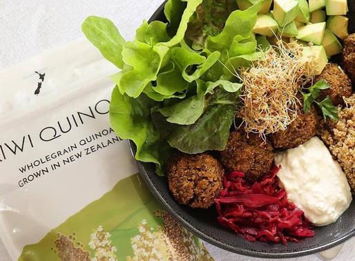 Quinoa and Lentil Balls served with Lemon Feta smash