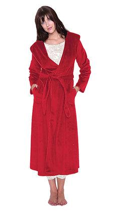 Plush Robe Sangria Red