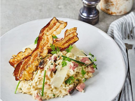Pancetta Gorgonzola Dolce, Parmesan Risotto