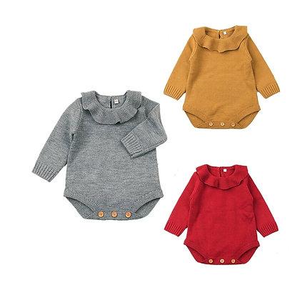 Caitlyn Knitted Collar Wool Bodysuit