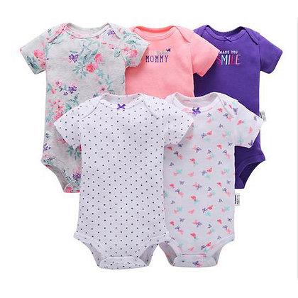 5 piece Short Sleeve Bodysuit - mommy