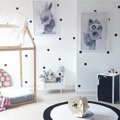 Polka Dot Wall Decal Stickers - 11 colours