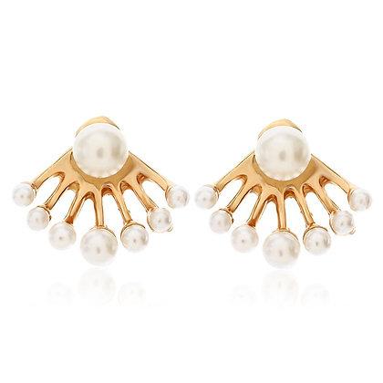Double Stud Pearl Earrings
