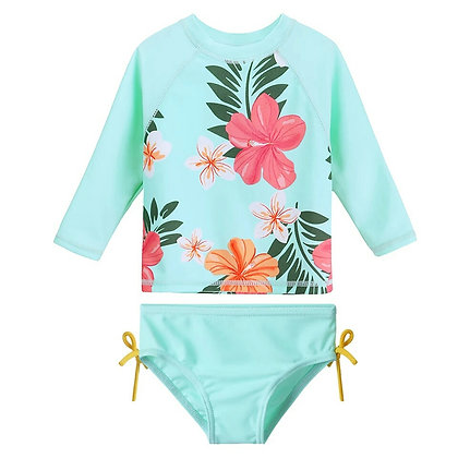 Two piece Tropical Blue Swimsuit