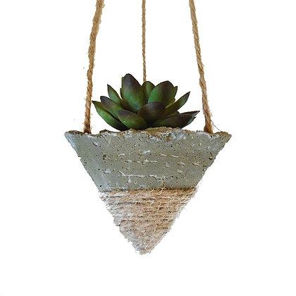 Hanging Planter - Concrete/White