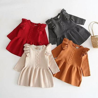 Lulu Ruffled Knitted Dress