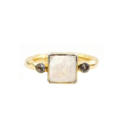 Robindira Unsworth Gold Moonstone Stacking Ring