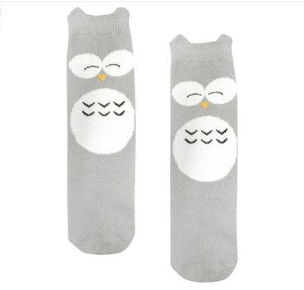 Knee High Owl Socks - 6 months to 2 years