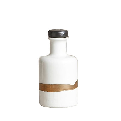 Apothecary Bottle with Gold Strip