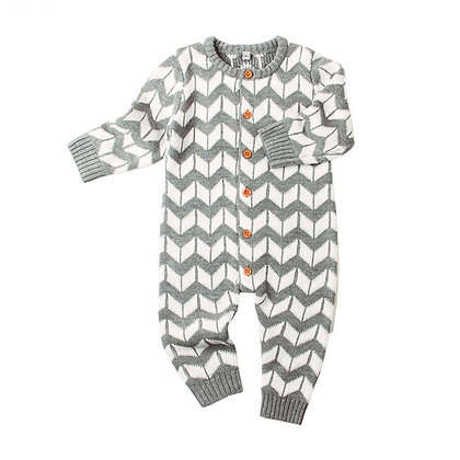 Chevron Knitted Jumpsuit