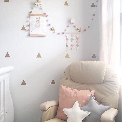 Decorative Macaron Wool Balls - Pink/White/Gray