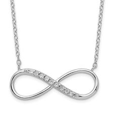 Infinity Sterling Silver CZ Necklace