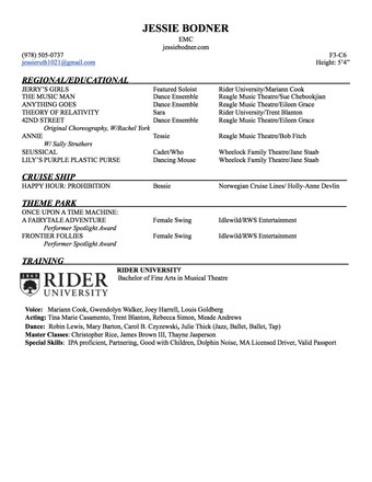OFFICIAL RIDER RESUME FINAL 2020**** cop