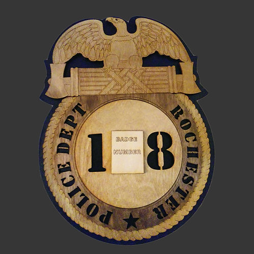 Police Dept with Badge Number