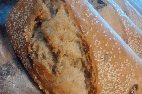 Sourdough Olive-Sesame Loaf