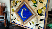 Stained Glass monogram Repair