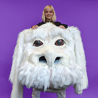 My Halloween costume this last year was Falkor from The NeverEnding Story.