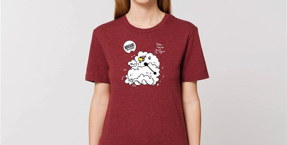 "T-shirts ski rouge ""Make genepi great again"""