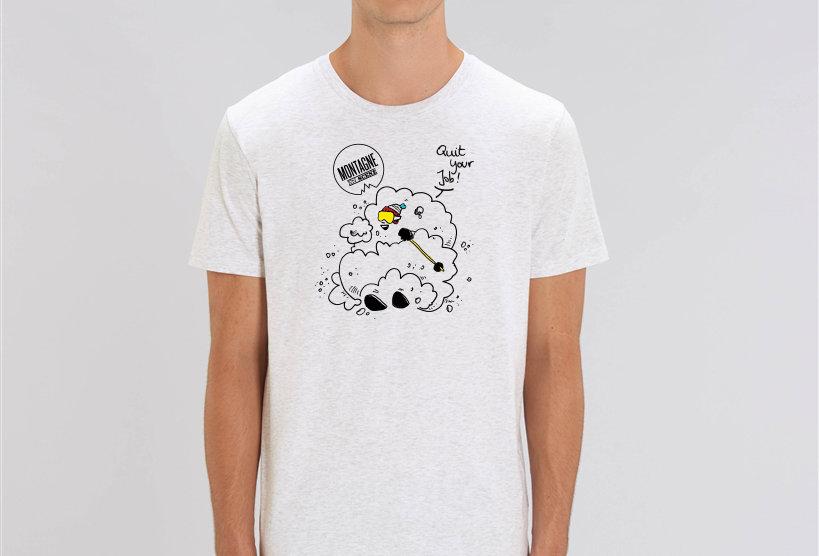 """T-shirts ski blanc """"Quit your job"""""""