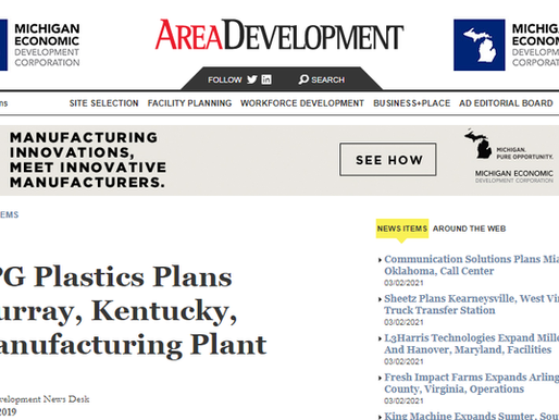 TPG Plastics Plans Murray, Kentucky, Manufacturing Plant