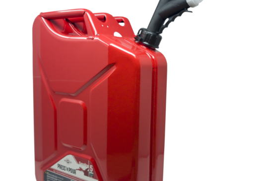 GarageBOSS™ Press 'N Pour Metal 5 Gallon Jerry Gas Can