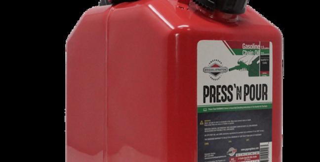 GarageBOSS™ Press 'N Pour Metal Gas/Oil Combo Can