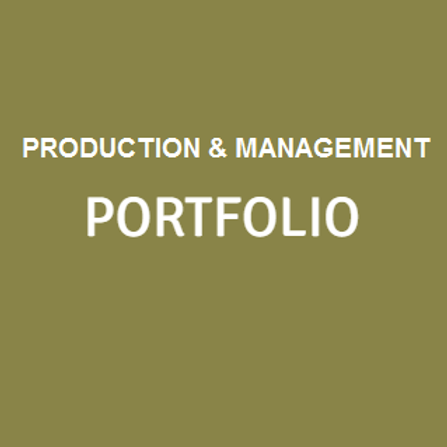Production/Management PORTFOLIO