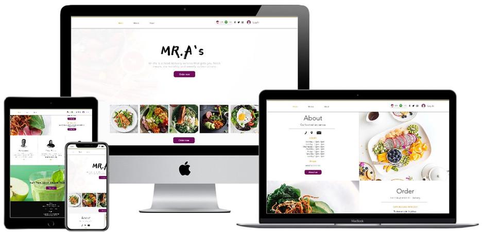 Food delivery website in Saudi Arabia de