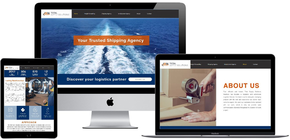 Logistics website designed by Treewares