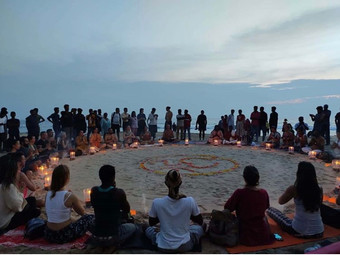 """南インドの異国情緒な空間から癒しを提供する"""" シヴァナンダヨーガ"""" ♪オンラインレッスン♪"""