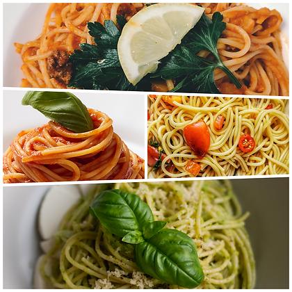 Linguini met spinazie en truffel Ⓥ