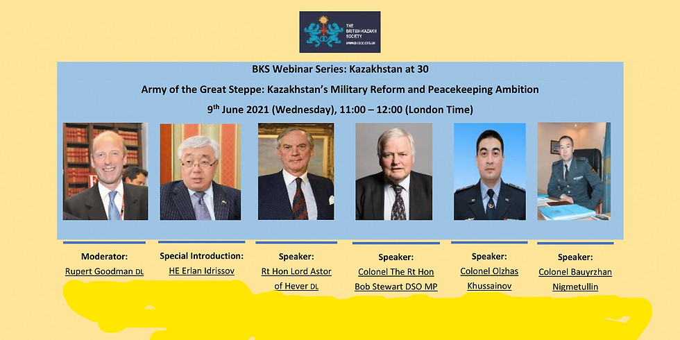 BKS Webinar: Army of the Great Steppe: Kazakhstan's Military Reform and Peacekeeping Ambition