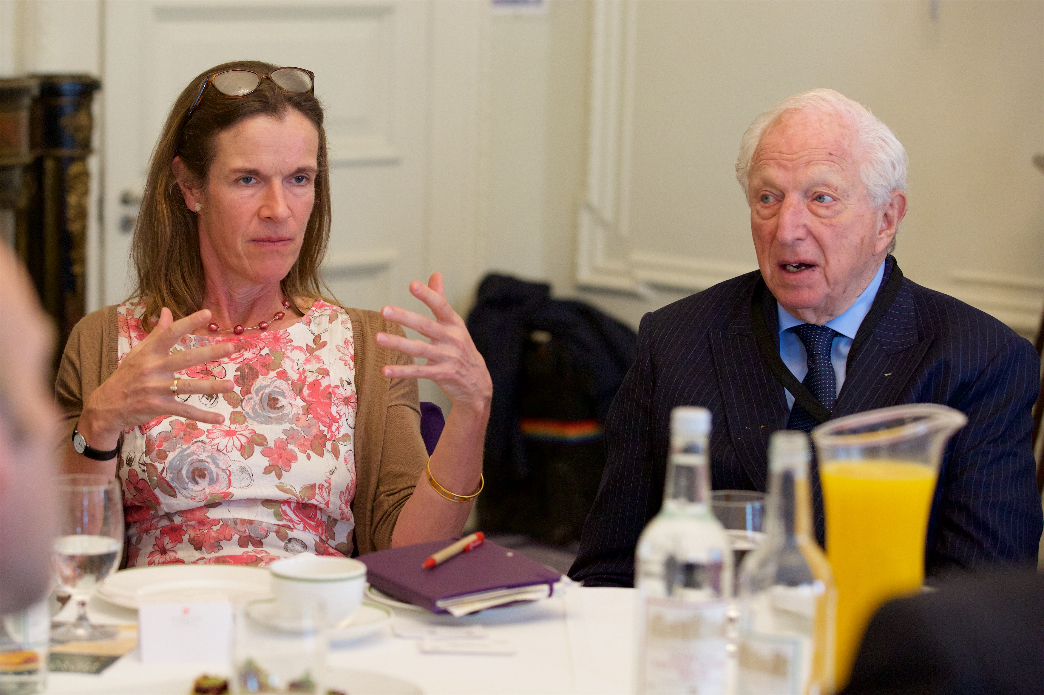 Judith Slater and Rt Hon Lord Woolf
