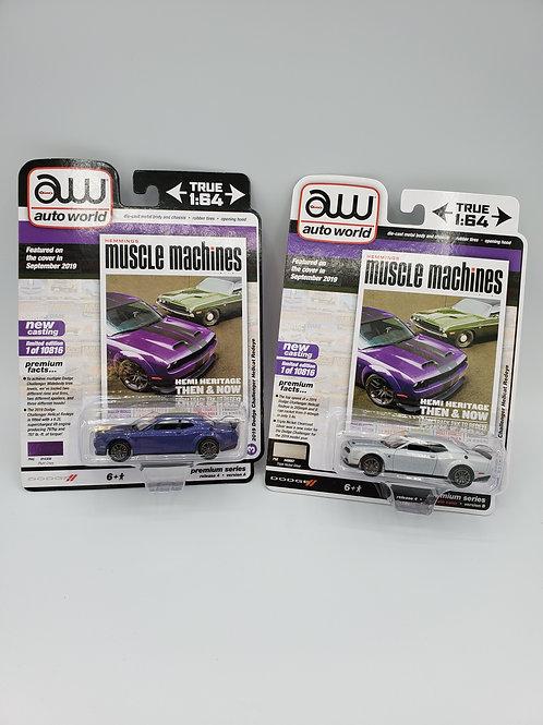 1/64 Dodge Challenger Hellcat Redeye set