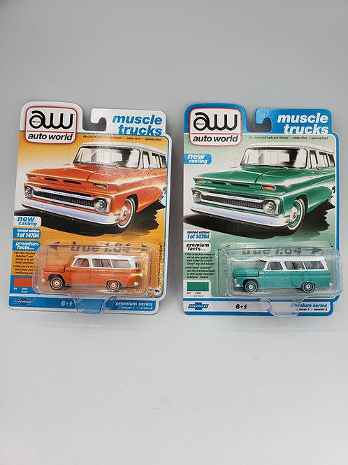 1965 Chevy Suburban Pair