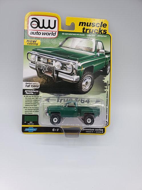 1980 Chevy Custom Deluxe Stepside Green