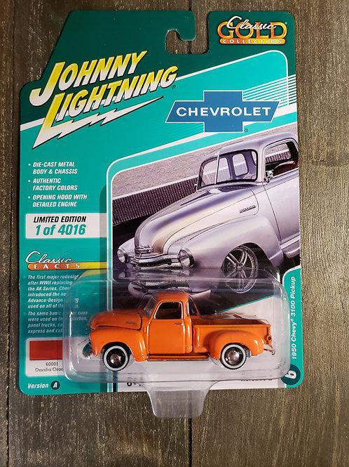 1950 Chevy 3100 Pickup Orange