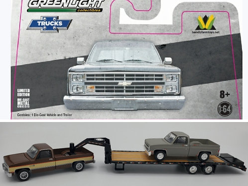 1982 Chevy (Brown + Tan) + Black Gooseneck + Project Truck