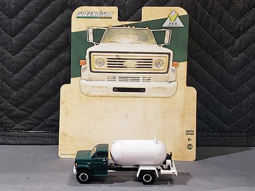 1/64 1984 Chevy C-60 Propane Truck Green Cab