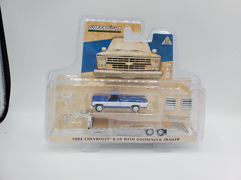 Hitch and Tow 1984 Chevy Squarebody K20 Blue with Black Gooseneck
