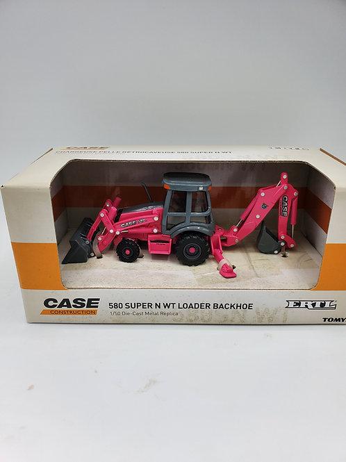 1/64 Case 580 Backhoe Pink