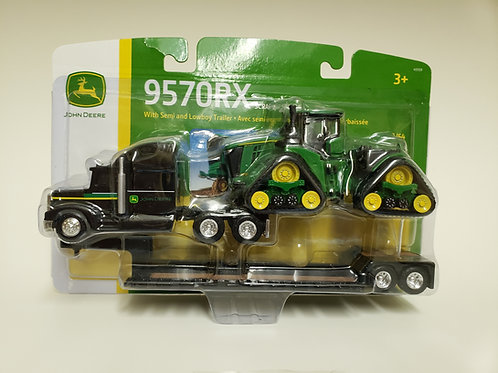 9570RX with semi and lowboy trailer