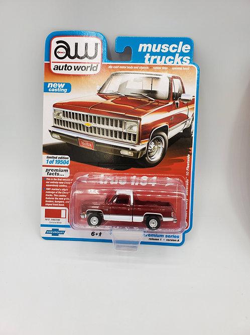1981 Chevy Silverado (Red w/ White lower)