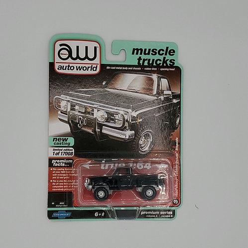 1980 Chevy Custom Deluxe Stepside Black