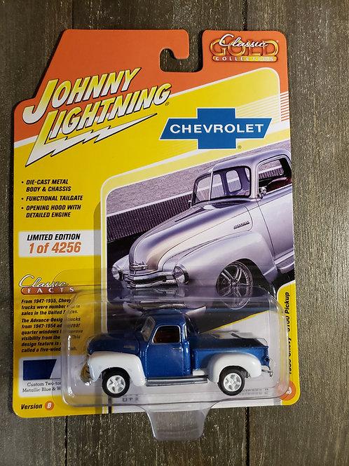 1950 Chevy 3100 Pickup Blue/White