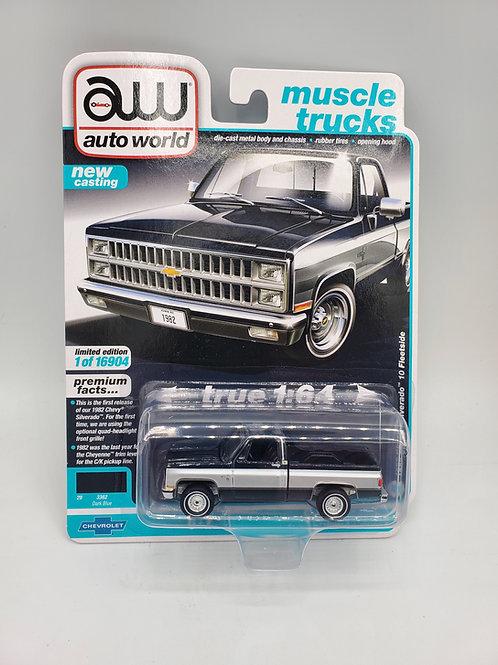 1982 Chevy Silverado Midnight Blue and Silver