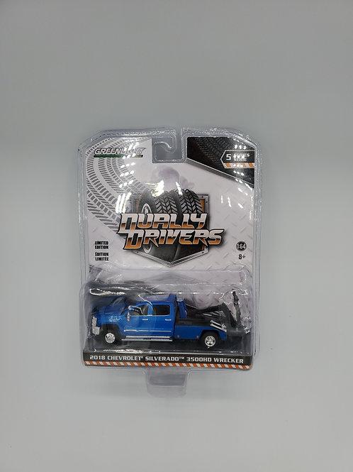 2018 Chevy Silverado 3500HD Wrecker Blue
