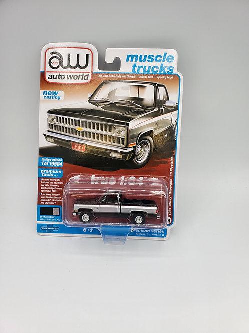 1981 Chevy Silverado (Black w/ Silver Stripe)
