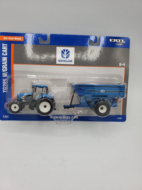 NH TG285 w/ Grain Cart