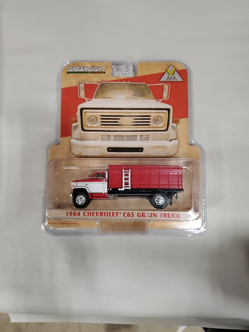 1/64 1984 Chevy C65 Grain Truck Red  w/ red Bed